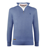 Q1905 Men's Pullover Castricum - Middle blue