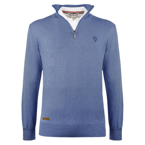 Men's Pullover Castricum - Middle blue