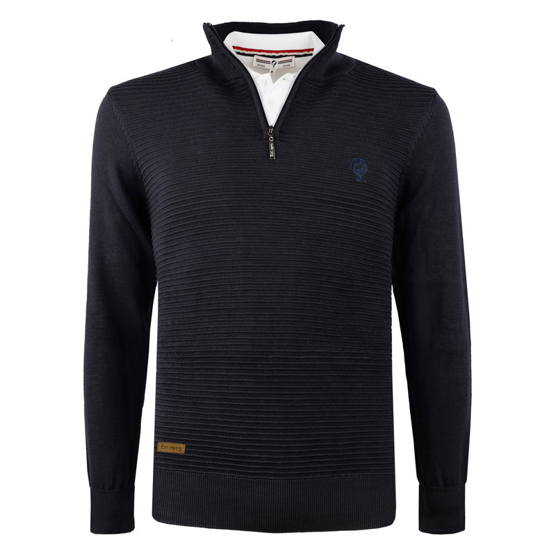 Q1905 Men's Pullover Woudrichem  -  Dark blue