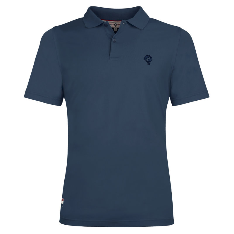 Q1905 Heren Polo Approach - Denim Blauw
