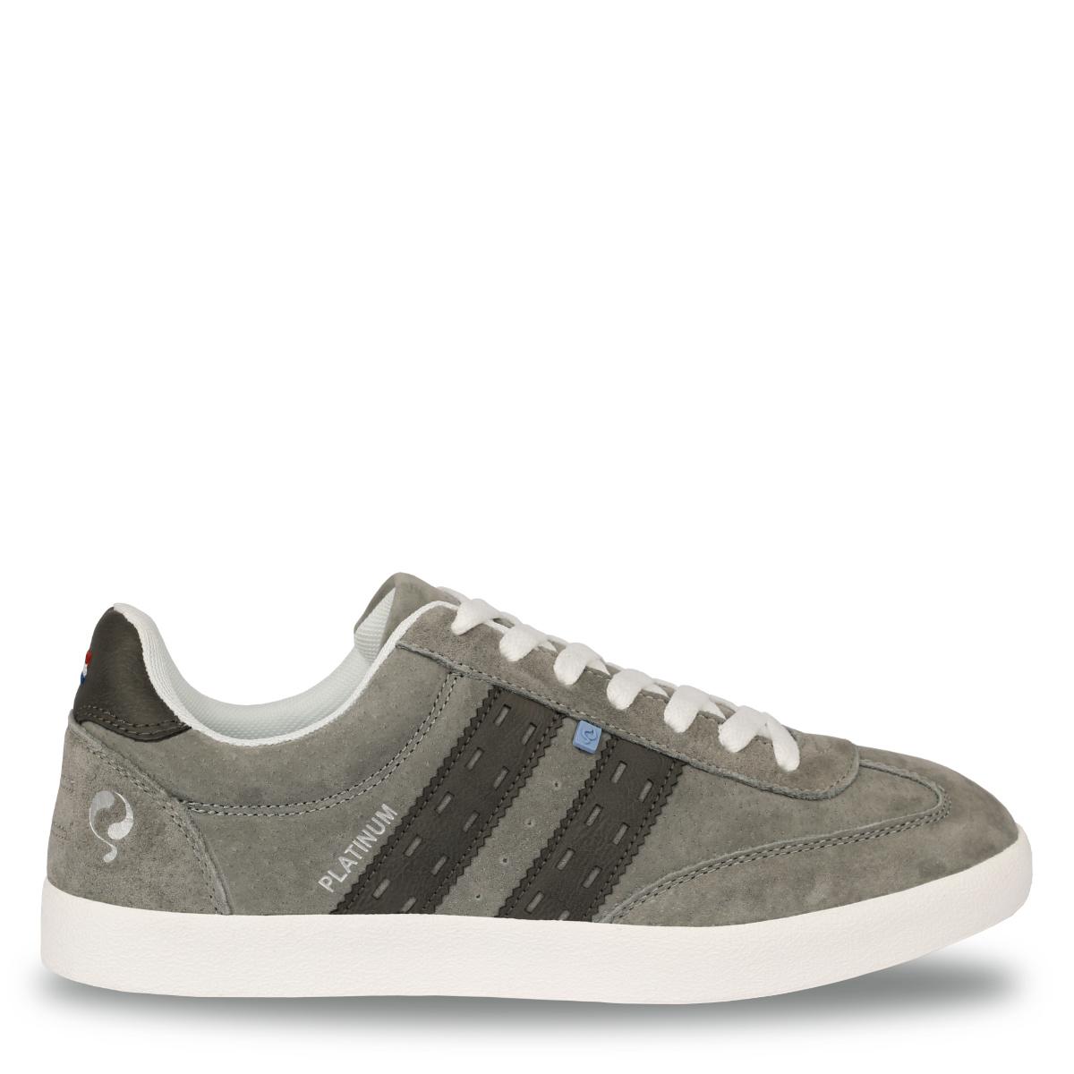 Heren Sneaker Platinum - Lichtgrijs/Donkergrijs