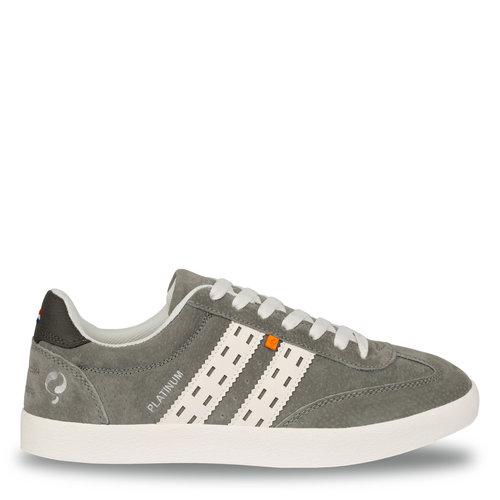 Heren Sneaker Platinum  -  Lichtgrijs/Wit