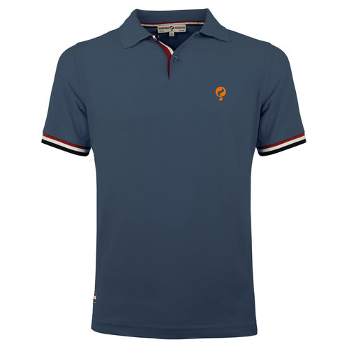 Heren Polo Matchplay - Denim Blauw