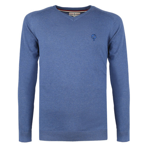 Men's Pullover Heemskerk - Middle blue