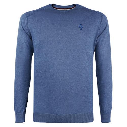 Heren Trui Leusden - Midden blauw