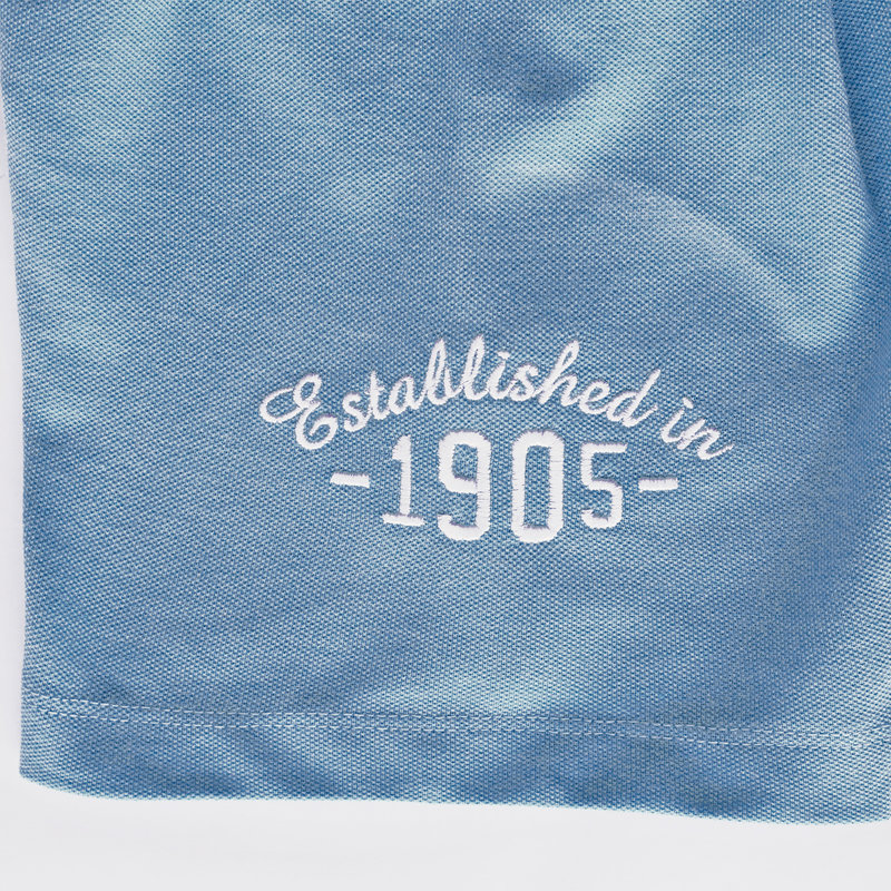 Q1905 Heren Polo Willemstad - Licht Denimblauw