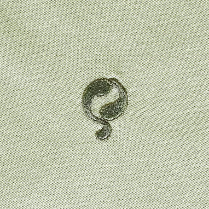 Q1905 Heren Polo Bloemendaal - Licht grijsgroen