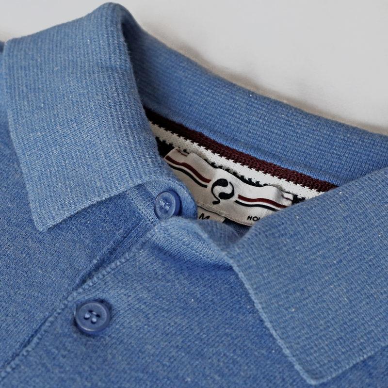 Q1905 Heren Polo Zoutelande - Midden blauw
