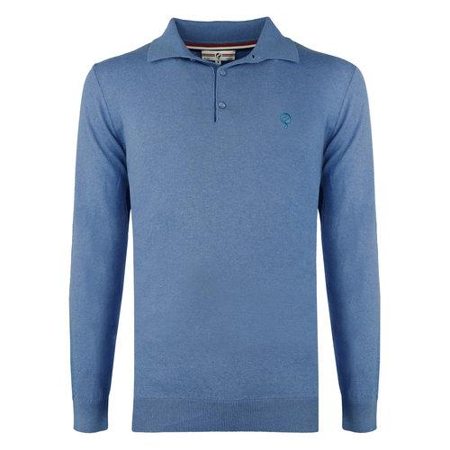 Men's Pullover Lunteren - Middle blue