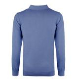 Q1905 Men's Pullover Lunteren - Middle blue