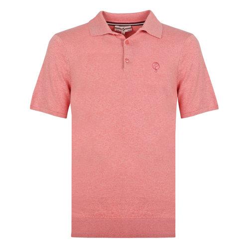 Heren Polo Zoutelande - Oud roze