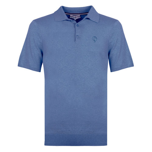 Heren Polo Zoutelande - Midden blauw