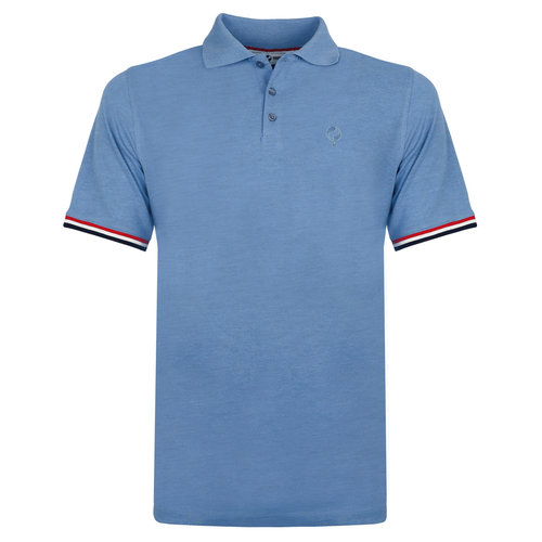 Men's Polo Bloemendaal - Light Denim blue