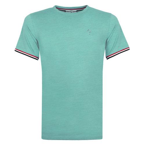 Heren T-shirt Katwijk - Aqua