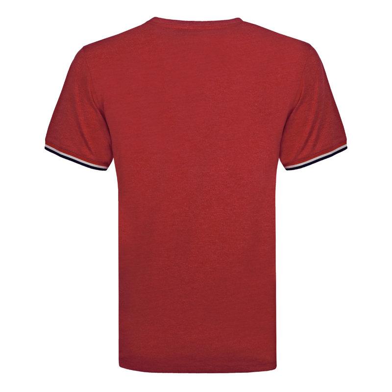 Q1905 Heren T-shirt Katwijk - Diep rood