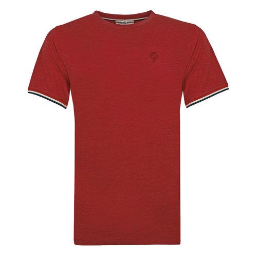 Heren T-shirt Katwijk - Diep rood
