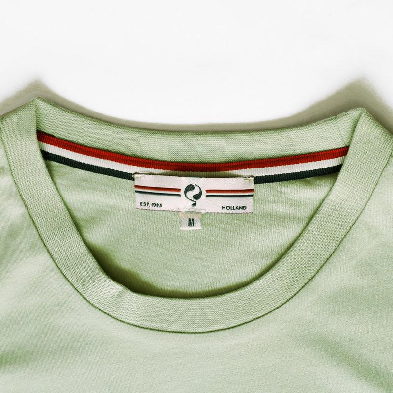 Q1905 Heren T-shirt Katwijk - Licht grijsgroen