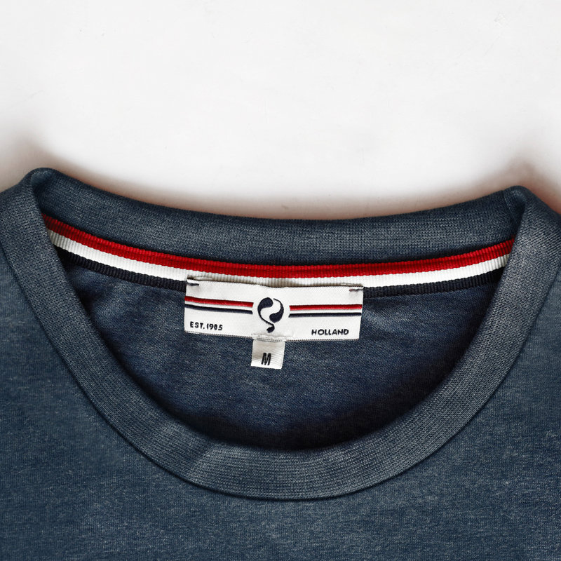 Q1905 Heren T-shirt Loosduinen - Donker Denimblauw