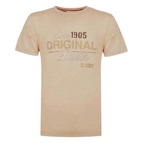 Heren T-shirt Loosduinen - Zacht taupe