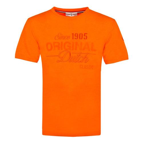 Mens's T-shirt Loosduinen - Dutch Orange
