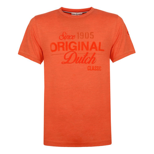 Heren T-shirt Loosduinen - Retro oranje