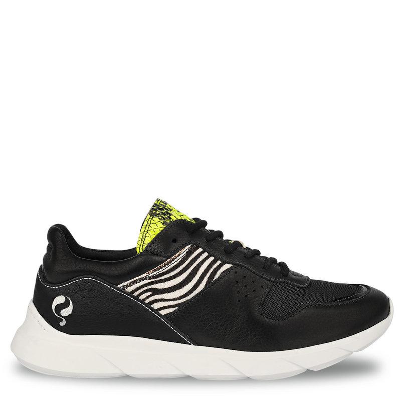 Q1905 Dames Sneaker Hillegom - Zwart/Multi
