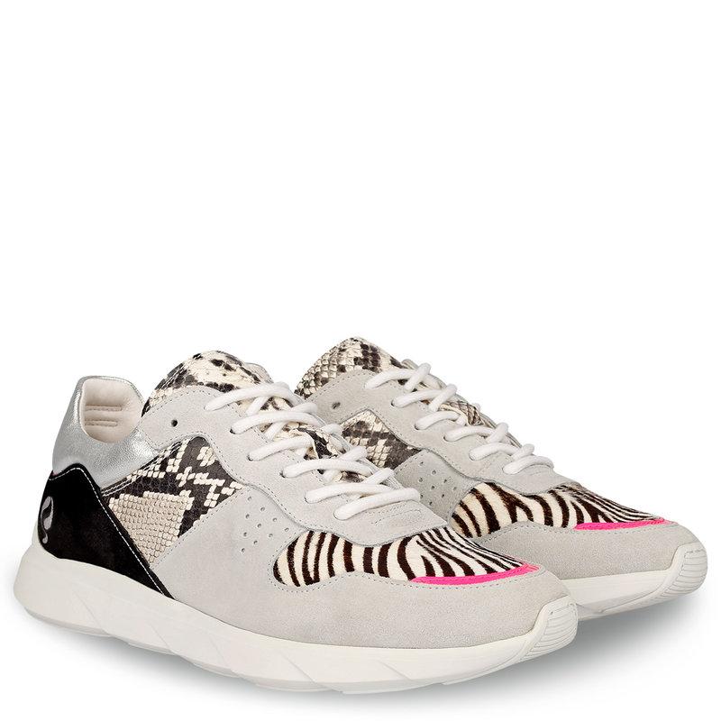 Q1905 Dames Sneaker Hillegom - Wit/Multi