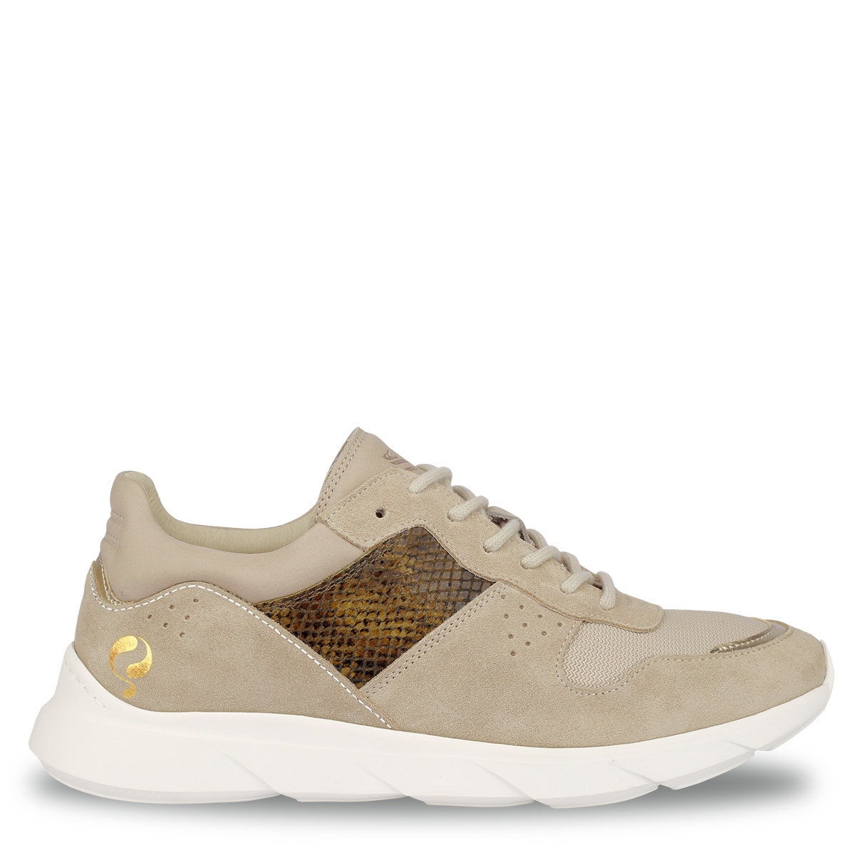 Dames Sneaker Hillegom Zacht taupe