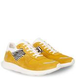 Q1905 Dames Sneaker Hillegom - Oker geel