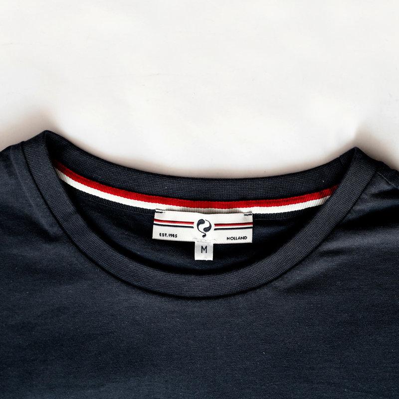 Q1905 Heren T-shirt Katwijk - Donkerblauw