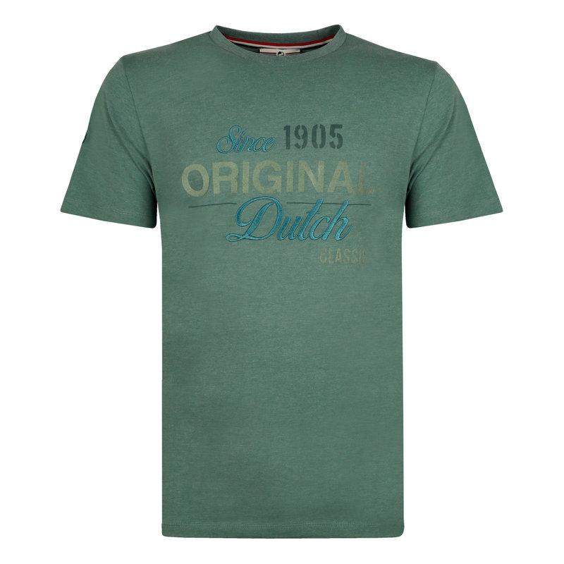Q1905 Heren T-shirt Loosduinen - Grijsgroen