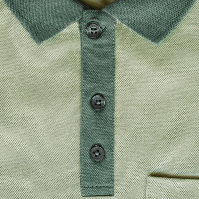 Q1905 Heren Polo Bruinisse - Licht grijsgroen