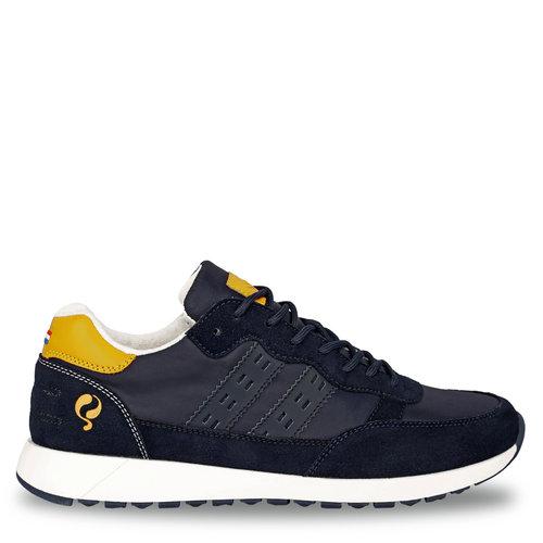 Heren Sneaker Voorschoten - Donkerblauw/Geel
