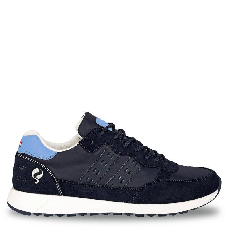 Q1905 Heren Sneaker Voorschoten - Donkerblauw/Lichtblauw