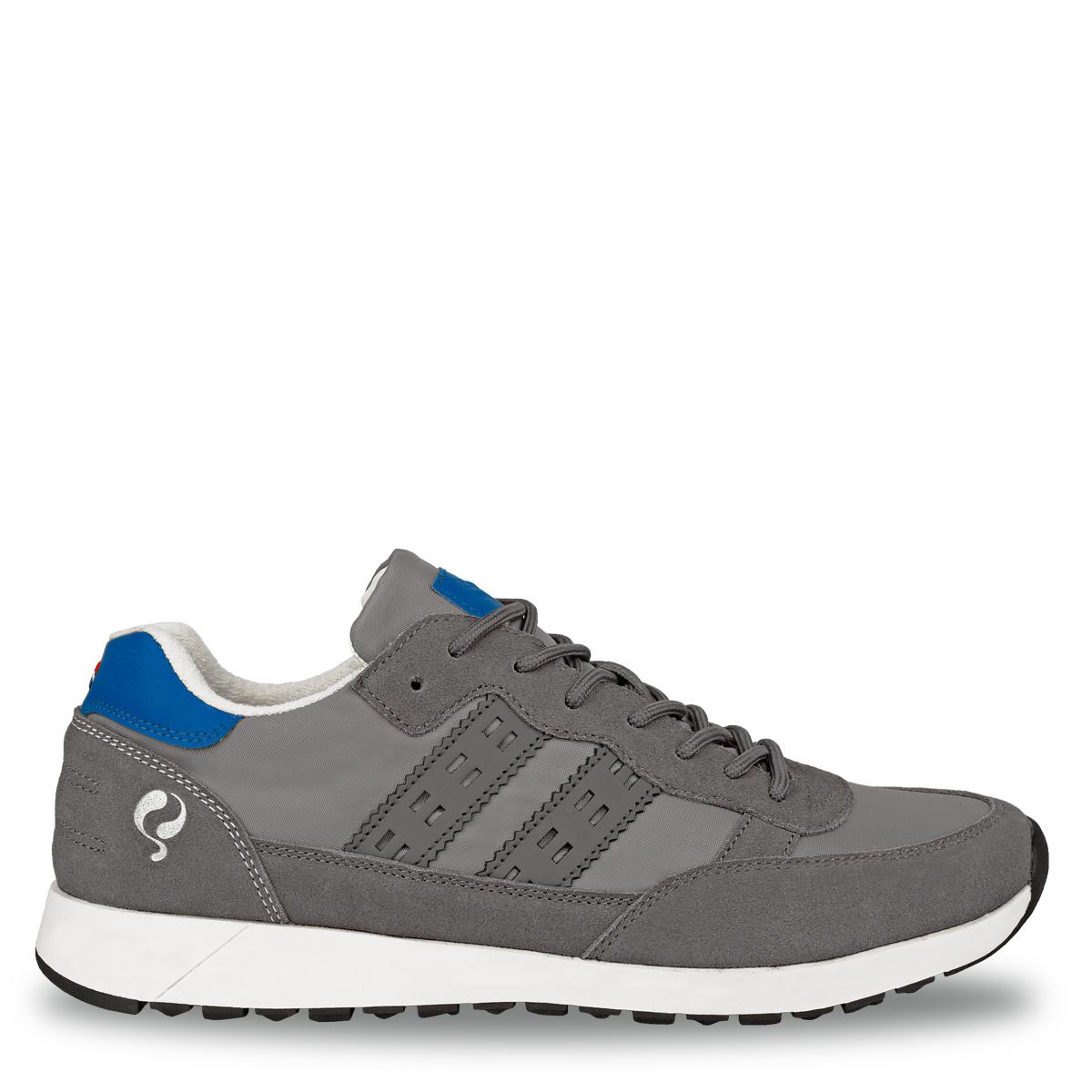 2 voor €99 - Heren Sneaker Voorschoten - Grijs/Hard blauw