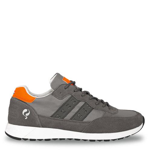 Heren Sneaker Voorschoten - Grijs/Oranje