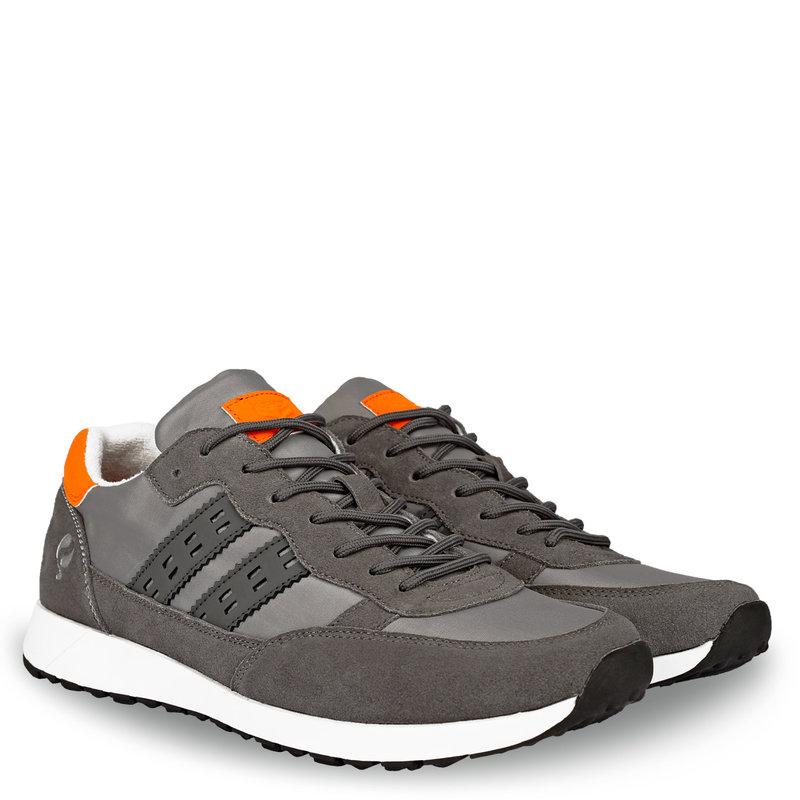 Q1905 Men's Sneaker Voorschoten - Grey/Orange