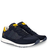 Q1905 Heren Sneaker Voorschoten - Donkerblauw/Geel