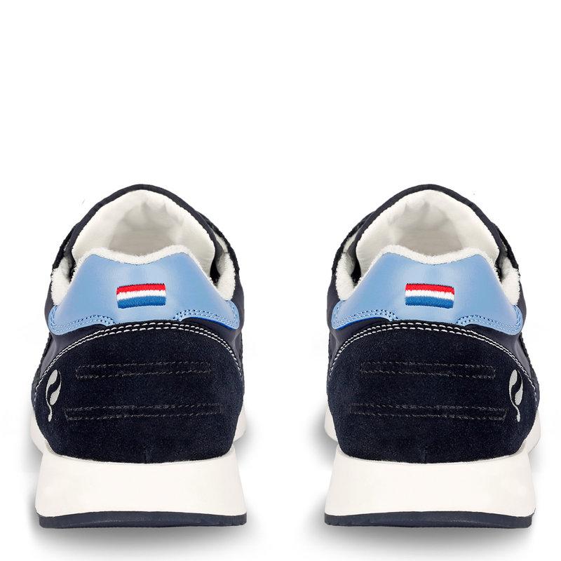 Q1905 Men's Sneaker Voorschoten - Dark blue/Light blue