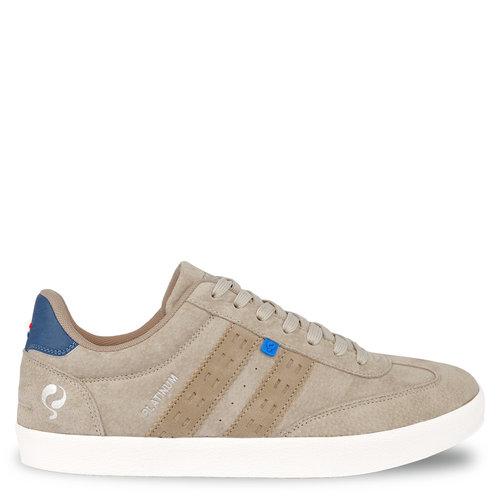 Heren Sneaker Platinum - Zacht Taupe/Hard Blauw