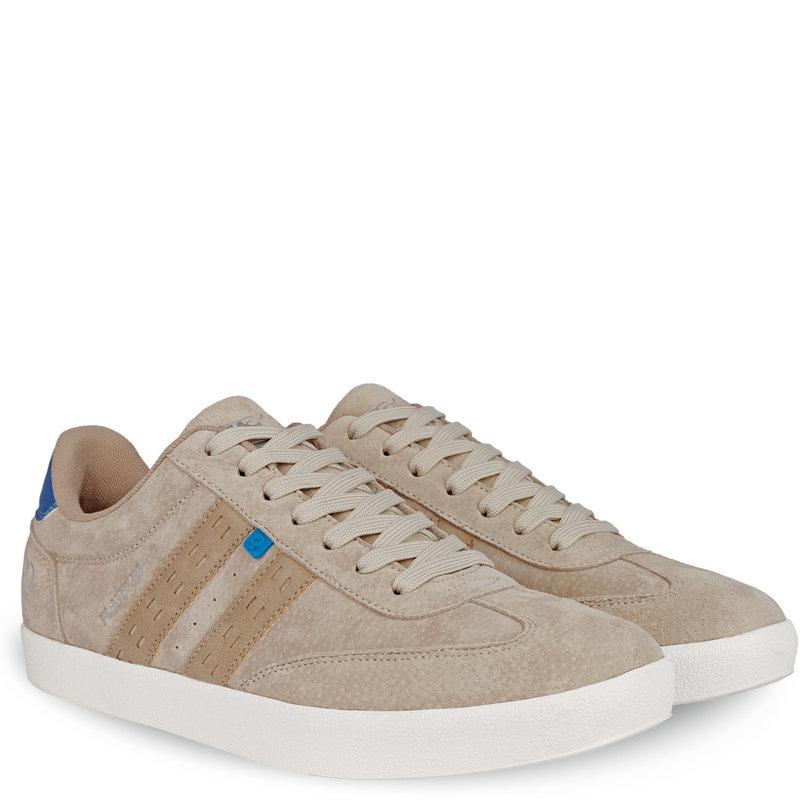 Q1905 Heren Sneaker Platinum - Zacht Taupe/Hard Blauw