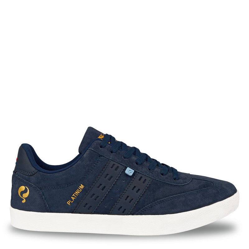 Q1905 Heren Sneaker Platinum - Denim blauw