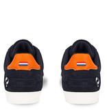 Q1905 Heren Sneaker Platinum - Donkerblauw/Oranje