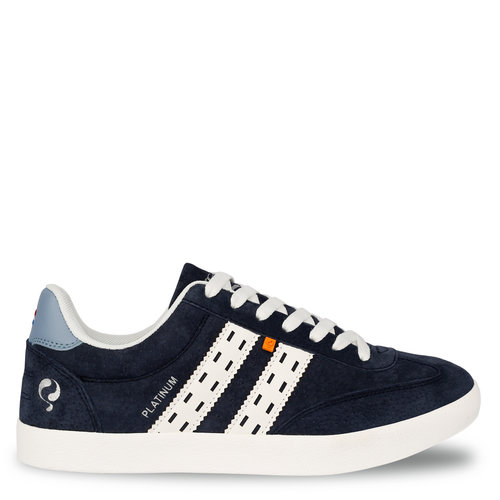 Men's Sneaker Platinum - Dark blue/White/Light blue