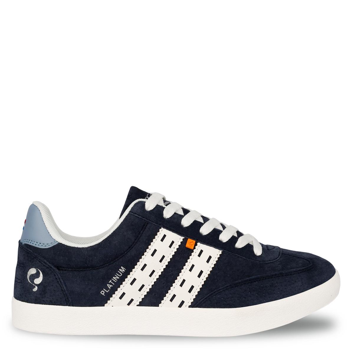 Heren Sneaker Platinum - Donkerblauw/Wit/Lichtblauw