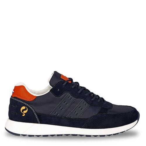 Heren Sneaker Voorschoten - Donkerblauw/Oranje