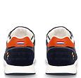 Q1905 Heren Sneaker Voorschoten - Donkerblauw/Oranje