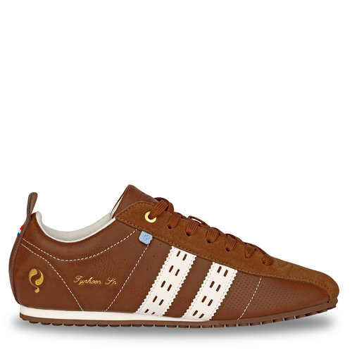 Heren Sneaker Typhoon Sp  -  Cognac/Wit