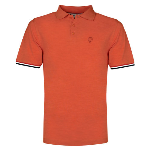 Heren Polo Bloemendaal - Retro oranje