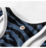 Q1905 Dames Q tanktop print Madrid - BG + Print BG/China Blue